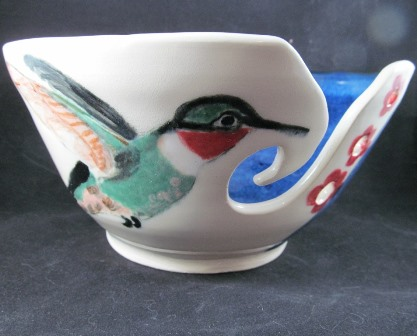 hummingbird yarn bowl