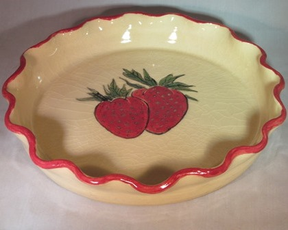Strawberry pie plate
